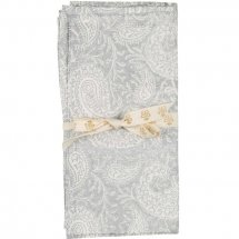 Striped napkins 2 pc. Big Paisley Silver