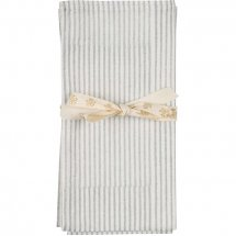 Striped napkins 2 pc. Silver