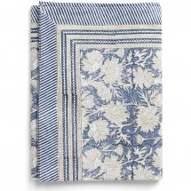 Cotton table cloth Waterlily Navy Blue
