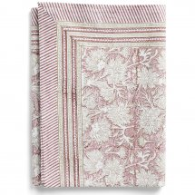Cotton table cloth Waterlily Fuchsia Rose