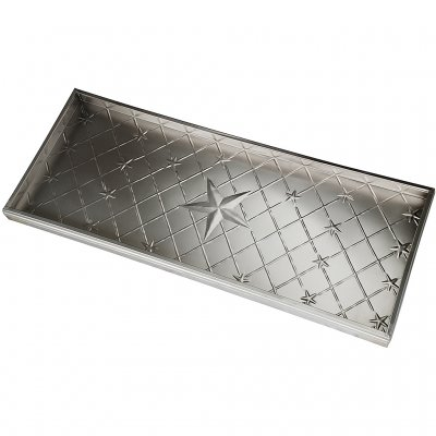 Boot tray with stars.