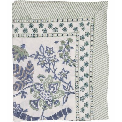 Table Cloth Floral Sea Blue