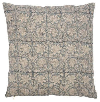 Linen cushion cover Paradise Blue