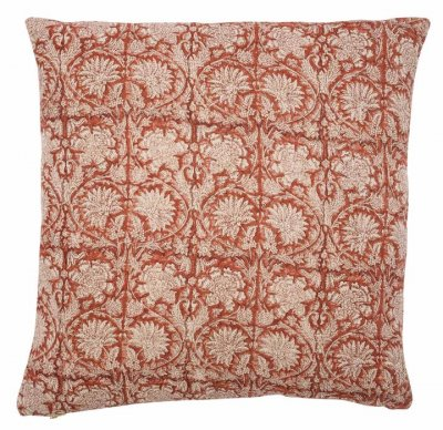 Linen cushion cover Paradise Spicy Red