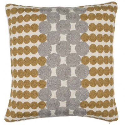 Linen cushion cover Medeval dots