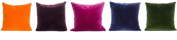Kuddfodral i sammet från Chmois.Köp dem online i vår webbutik Longcoast Living.se